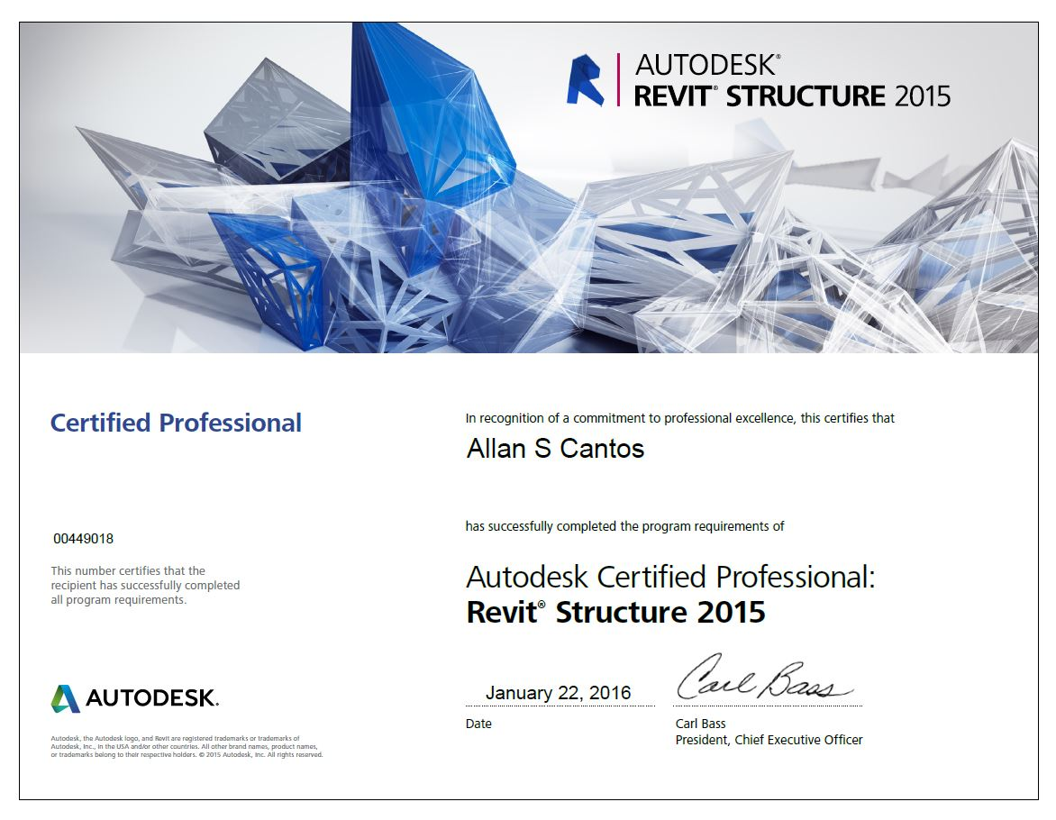 View my Revit Structure 2015 Badge on Acclaim