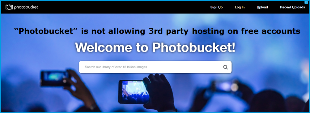 """Photobucket"" is not allowing 3rd party hosting on free accounts"