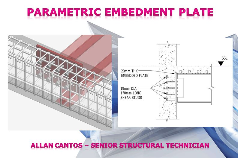 Parametric Embedment Plate with Parametric Studs