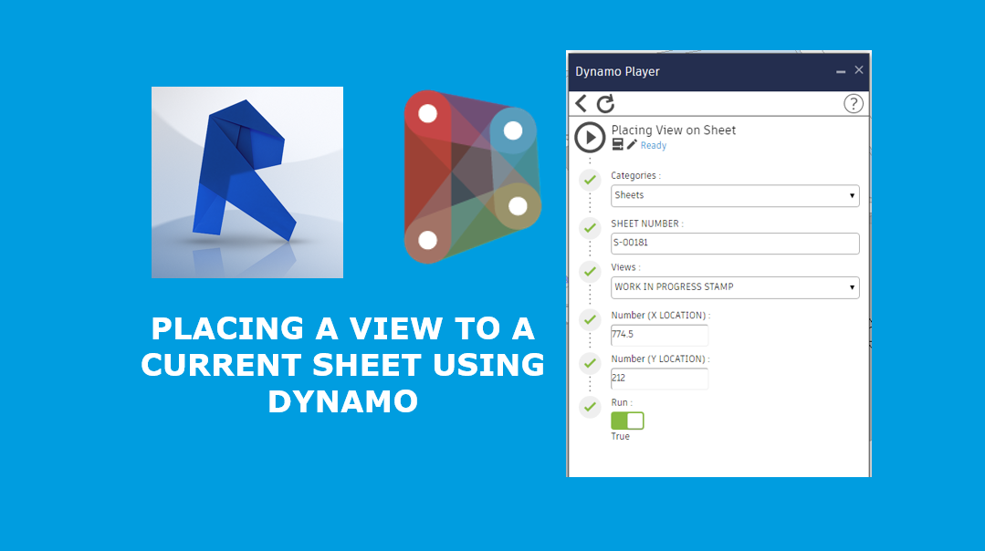 Placing a view to a current sheet using Dynamo