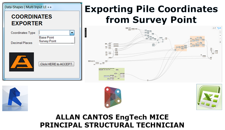 Exporting Pile Coordinate from Survey Point instead of Project Base Point