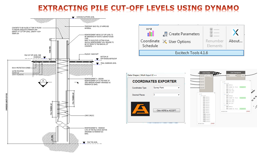 Pile Cut-off Level using Dynamo