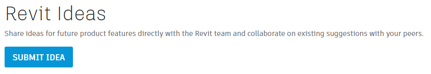 Submit your Revit Ideas