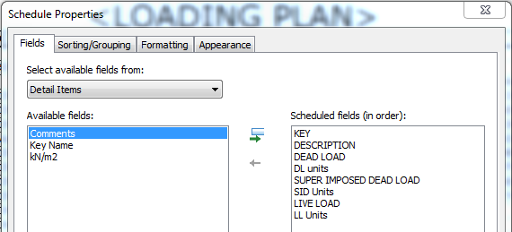 Loading Schedule form Spreadsheet to Revit: How do you