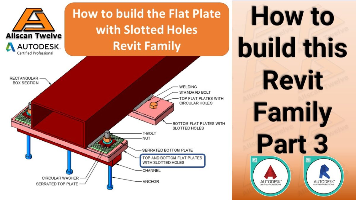 How to build a Revit Family – Part 3 / How to build the parametric flat plate with a slotted voids Revit Family