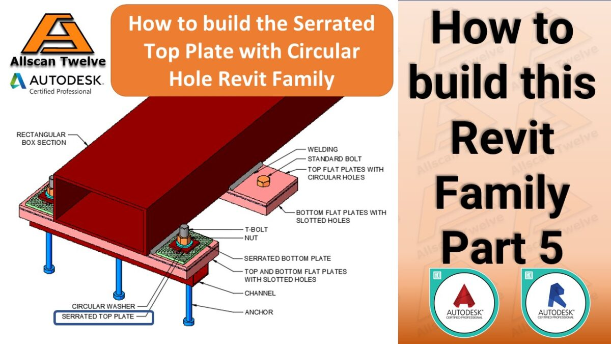How to build a Revit Family – Part 5 / How to build the parametric serrated top plate with a circular void Revit Family
